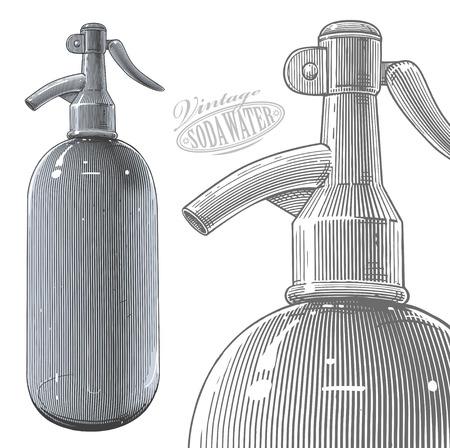 siphon: Vintage siphon or soda bottle
