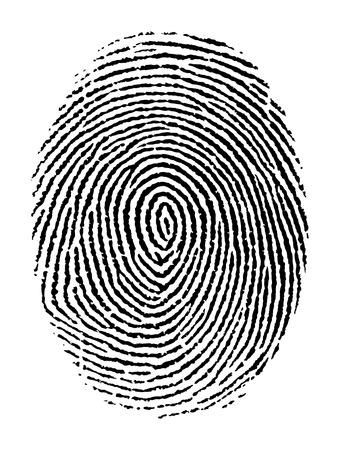 Vector illustratie van de vingerafdruk die op transparante achtergrond