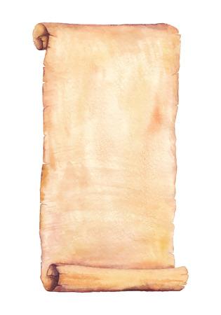 그린 수채화 오래 된 종이입니다. 벡터화 수채화 그림. 당신의 카드, 전단지 및 초대장에 사용합니다.
