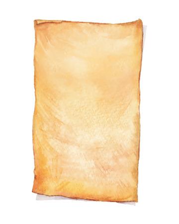 페인트 수채화 오래 된 종이입니다. 벡터 수채화 그림입니다. 귀하의 카드, 전단지 및 초대장을 위해 사용하십시오.