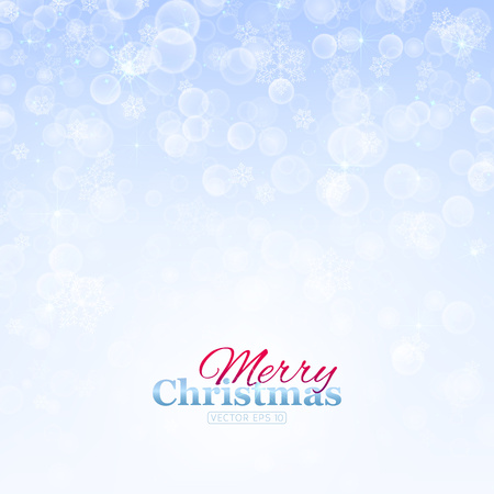 Elegant winter background made of snowflakes with blank space for your text. Ilustração
