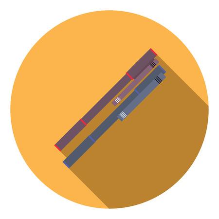 ballpoint: Flat design illustration concept of ballpoint pen icon long shadow.