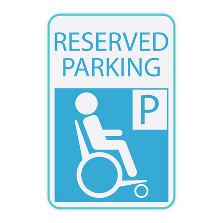 handicap: Handicap or wheelchair person icon, sign reserved parking. Illustration
