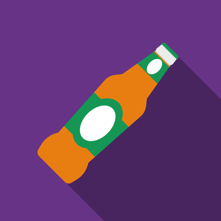 Flat design  beer icon with long shadow