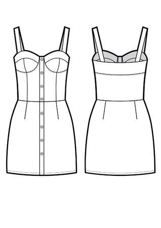 vector elegant dress