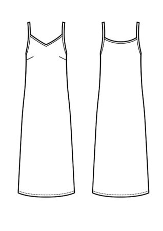 underwear dress vector technikal sketch Banco de Imagens - 137599613