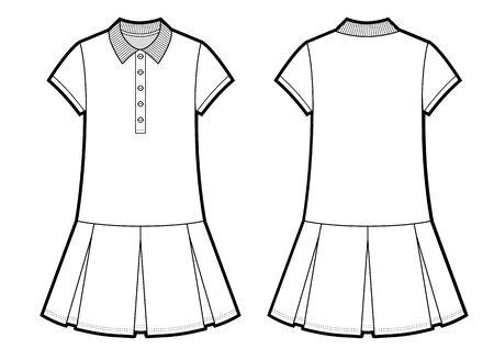 Girls Polo Dress Illustration Isolated