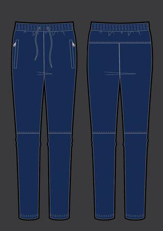 trousers apparel vector clothing sporting color, vector sketch Vektorgrafik