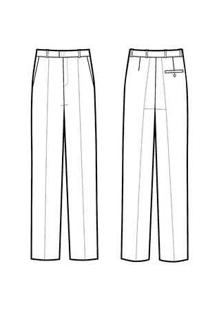 Vector illustration of mens business pants.