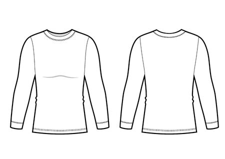 Mans longsleeve top bw sketch