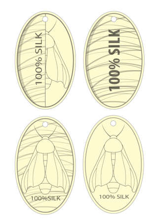 100% silk product clothing labels.