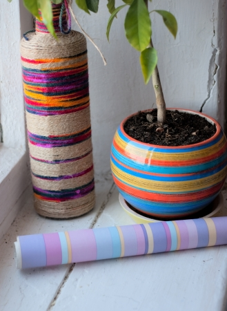 Striped decorative items for the home Stock Photo - 18552527
