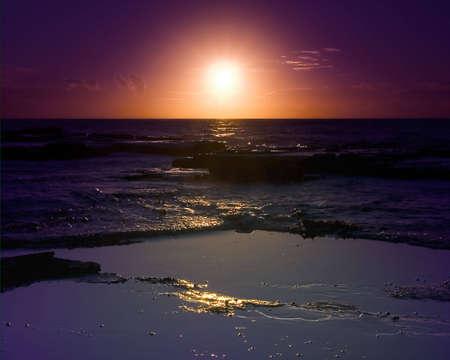 Early morning on East Coast of Australia, near Sydney Stock Photo - 2368113