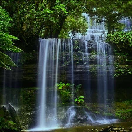 Waterfall in National Park in Tasmania, in summer Stock Photo - 2427511