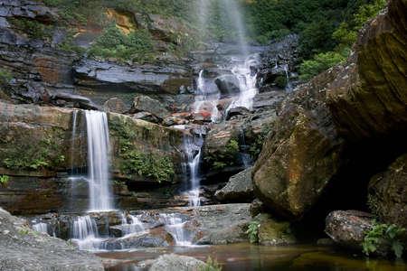 Wentworth Falls in Blue Mountains, Australia Stock Photo - 2600856