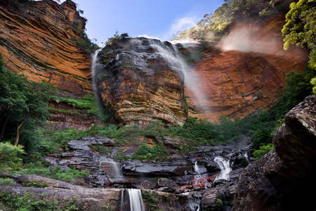 Wentworth Falls in Blue Mountains, Australia Stock Photo - 2624921