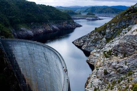 Gordon Dam in Tasmania Stock Photo