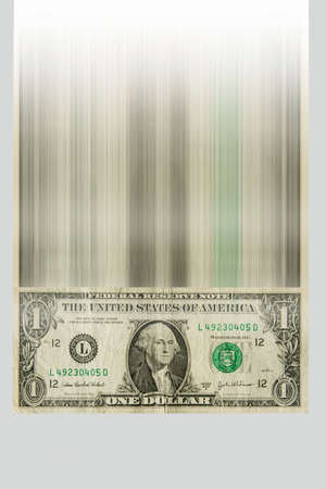 One dollar bill falling down at large speed Stock Photo - 3135492