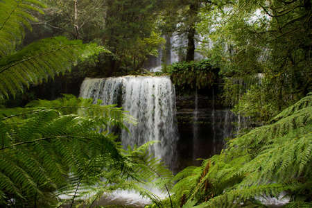 Waterfall in Tasmania Stock Photo