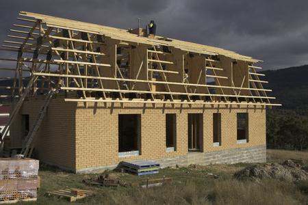 Building site of a new house in Tasmania, Australia
