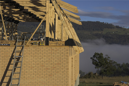 Building site of a new house in Tasmania
