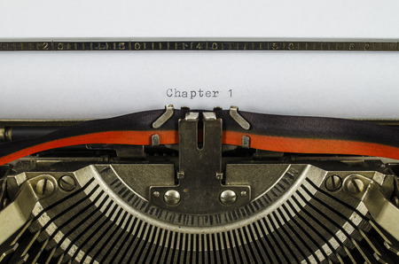 chapter: Chapter 1 word printed on an old typewriter