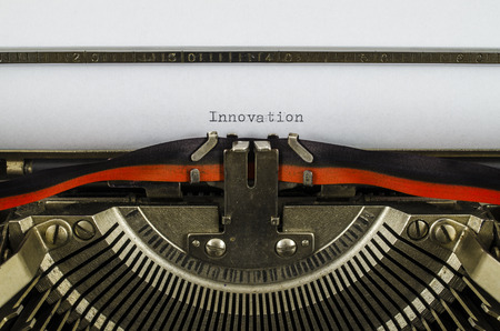 innovation word: Innovation word printed on an old typewriter Stock Photo