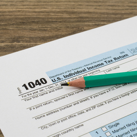 Us Individual Income Tax Return Form 1040 Stock Photo Picture And