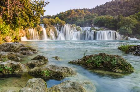 クルカ川の滝、ダルマチア、クロアチア