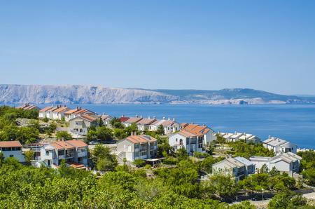 dalmatia: View of the sea shore in Dalmatia, Croatia Stock Photo
