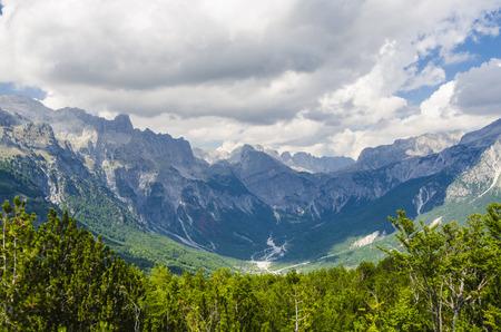 albanian: View of Albanian Alps Stock Photo