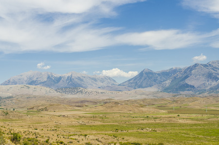albanian: View at Albanian mountains