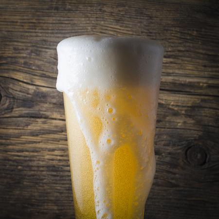 spilled: Spilled beer Stock Photo