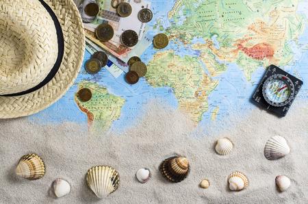 accesorios de viaje más de mapa del mundo