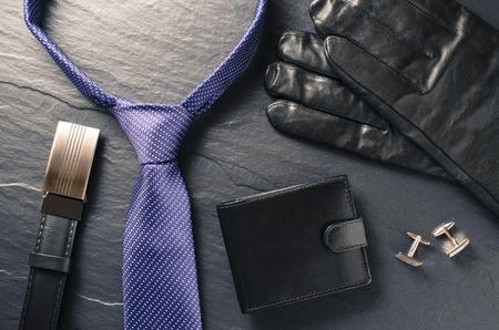 lazo negro: accesorios de hombre de negocios
