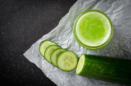 cucumber juice Stock Photo