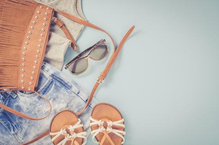 Hipster woman clothes Standard-Bild