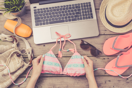 preparations: Summer holiday preparations concept