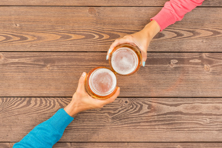 wallop: Cheers with beer