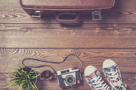 preparations: Travel preparations concept Stock Photo