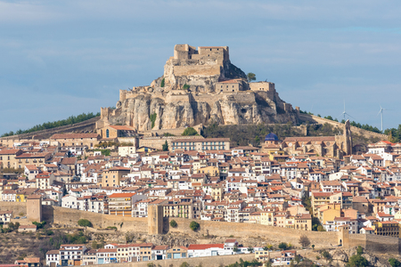 View at old medieval town of Morella, Castellon, Spain
