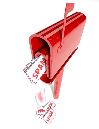 Mail box overflowing with spam, conception of e-mail Stock Photo - 11713927