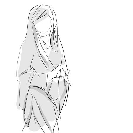 聖母マリア, コンセプチュアル手の図面のスケッチ