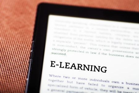 E-learning on ebook, tablet pc concept Stock Photo - 23216906