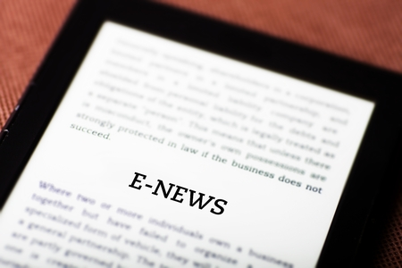 E-news on ebook, tablet pc concept Stock Photo - 23216913