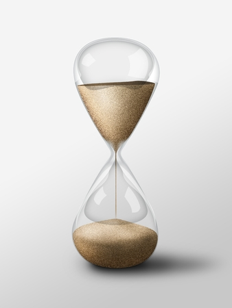 Hourglass isolated object. Simple and elegant sand glass clock