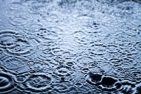 Rain drops frozen, water closeup background Stock Photo