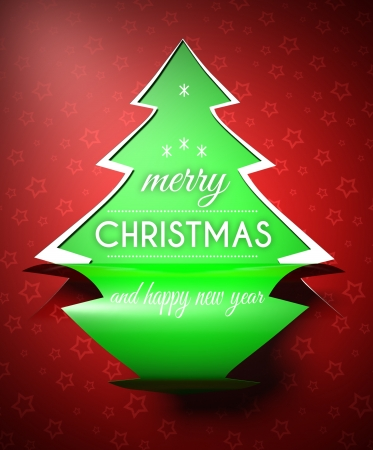 Merry Christmas Happy New Year creative conceptual illustration Stock Photo