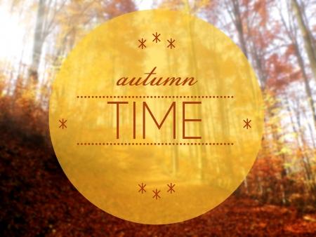 Autumn time creative conceptual illustration illustration