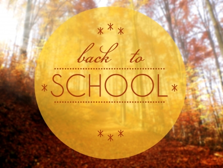 Back to school Autumn creative conceptual illustration